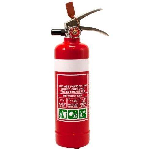 1kg Fire Extinguisher no hose with vehicle mounting bracket