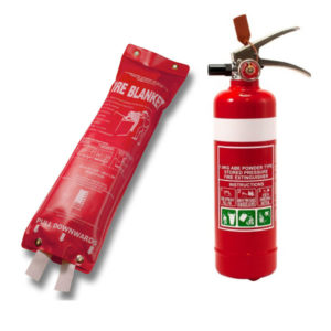 1kg ABE Fire extinguisher & 1.2x1.2 fire blanket