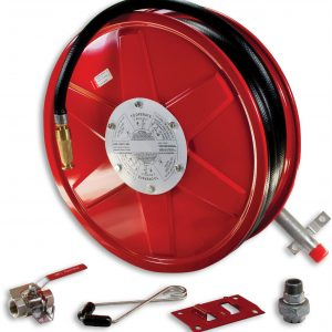 FIRE HOSE REEL 36M X 19MM WITH WALL BRACKET AND SHUT OFF VALVE