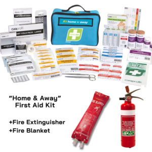 Home Safety Kit with Extinguisher, Fire Blanket, 1st Aid Kit