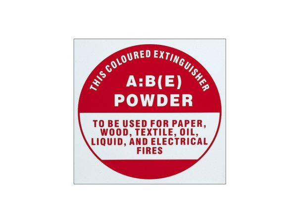 ABE Powder Extinguisher ID Sign