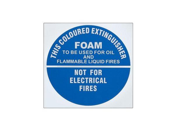 Foam Extinguisher ID Sign