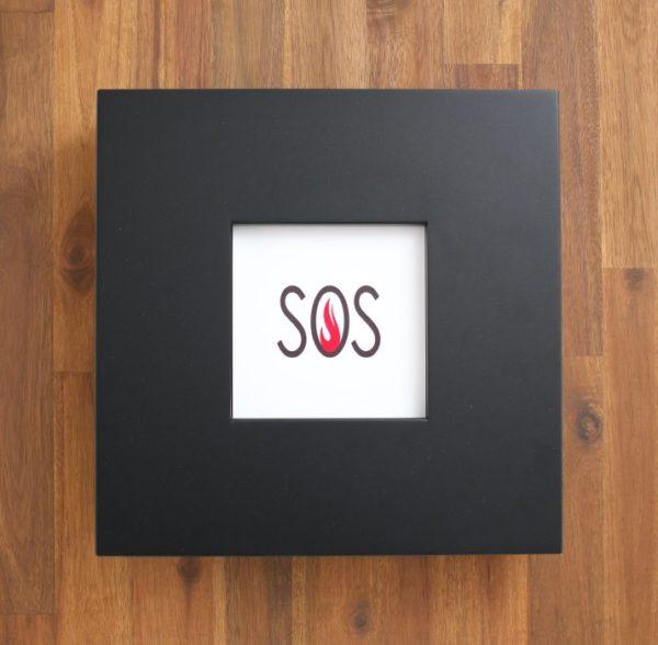 Photo Frame Fire Extinguisher Cabinet - Black